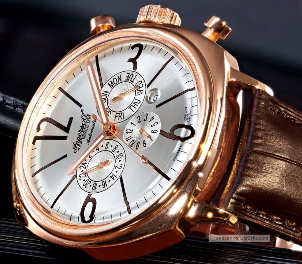 Ingersoll Cooper Automatik Leder Armband Uhr Klassisch Limited Edition Armbanduhren Bild