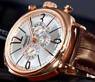 Ingersoll Cooper Automatik Leder Armband Uhr Klassisch Limited Edition Bild