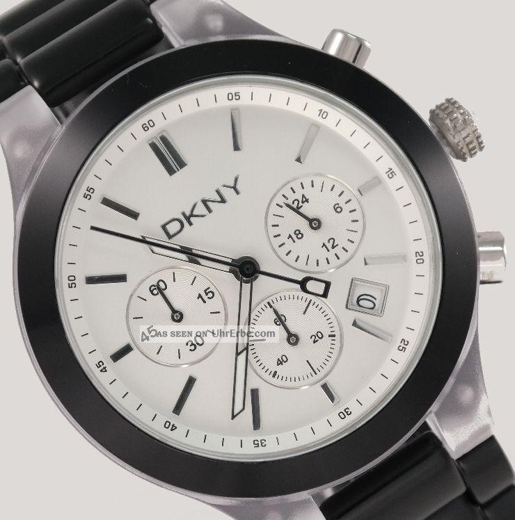 Dkny Donna Karan York Damenuhr Damen Uhr Chronograph Datum Black Ny8264 Armbanduhren Bild