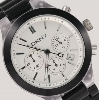 Dkny Donna Karan York Damenuhr Damen Uhr Chronograph Datum Black Ny8264 Bild