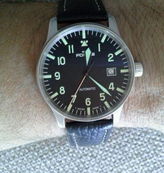 Fortis Armband Uhr Fliegeruhr Leder Faltschliesse Automatik Bild