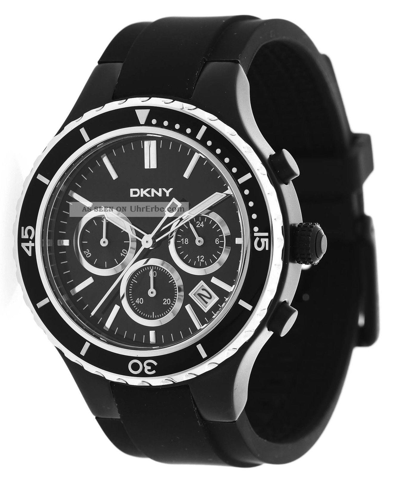 Dkny Donna Karan Herren Armbanduhr Chronograph Schwarz Ny1468 Armbanduhren Bild