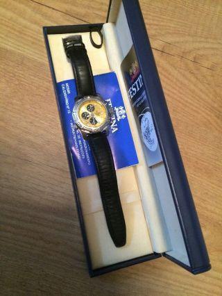 Festina Chronograph Uhr Armanduhr Leder M.  Wechselarmband Schwarz/braun Bild