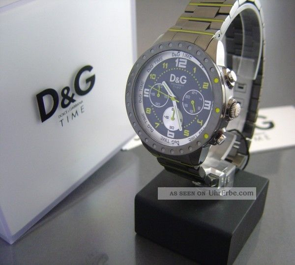 D & G Time Dolce Und Gabana Herren Chonograph Titan/neon Armbanduhren Bild