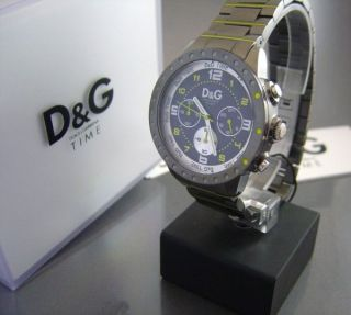 D & G Time Dolce Und Gabana Herren Chonograph Titan/neon Bild