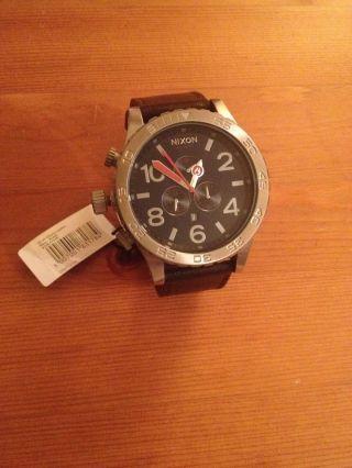 Nixon 51 - 30 Chrono Leather Uhr - Navy Brown Bild