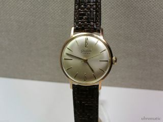 Glashütte Schöne Herrenuhr (men ' S Wrist Watch).  Kaliber Gub 70.  1 Bild