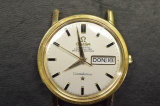 Omega Constellation Vintage Automatik Day Date 18k Gelbgold Kaliber 761 Bild