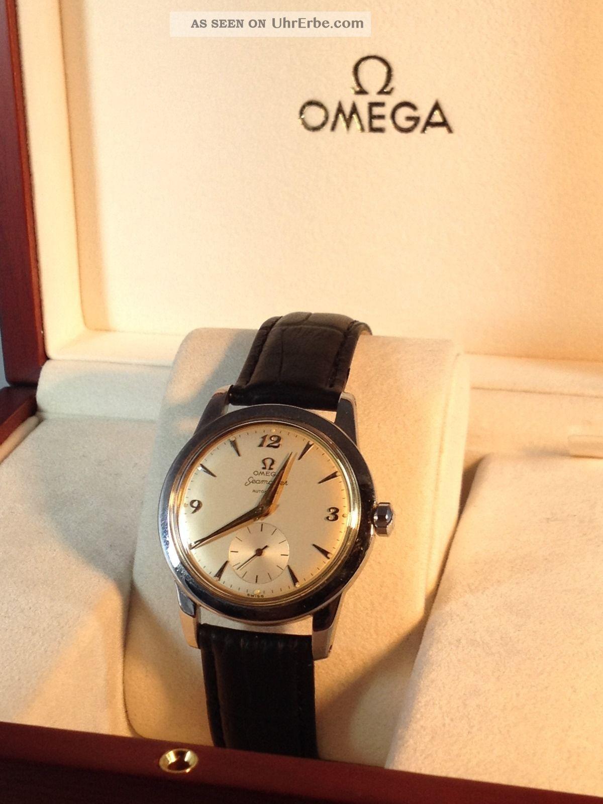 Omega Seamaster Automatik Hammer Uhrwerk Armband Uhr Swiss Made Armbanduhren Bild