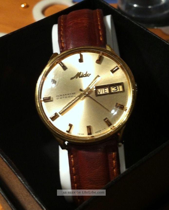 Vintage Mido Oceanstar Datoday Automatic Herrenarmbanduhr Läuft Perfect Armbanduhren Bild