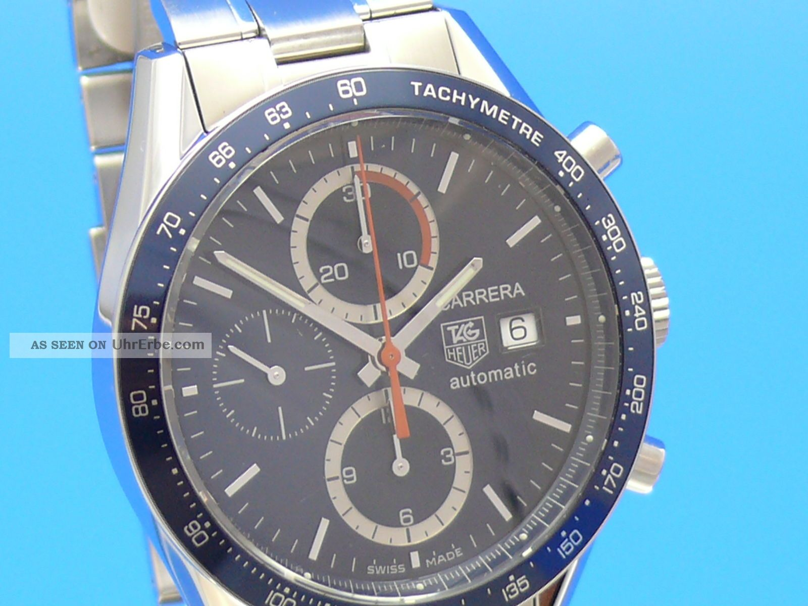 Tag Heuer Carrera Date Chronograph Cv2015 Blau Vom Uhrencenter Berlin Armbanduhren Bild