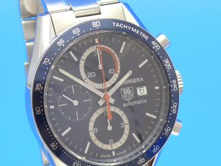 Tag Heuer Carrera Date Chronograph Cv2015 Blau Vom Uhrencenter Berlin Bild
