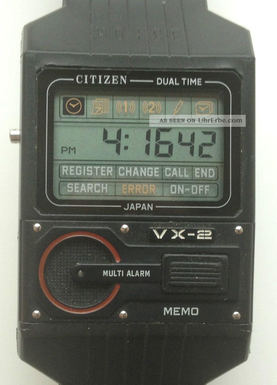 Citizen Vx - 2 Memo Voice Sprachsteuerung Digital Uhr Armbanduhr Rar Selten Armbanduhren Bild
