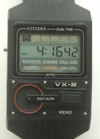 Citizen Vx - 2 Memo Voice Sprachsteuerung Digital Uhr Armbanduhr Rar Selten Bild