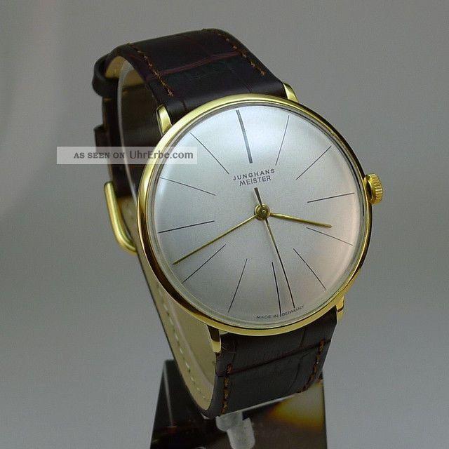 Junghans Meister 17 Rubis.  Kaliber J84/s3.  Hochwertiger Klassiker Armbanduhren Bild