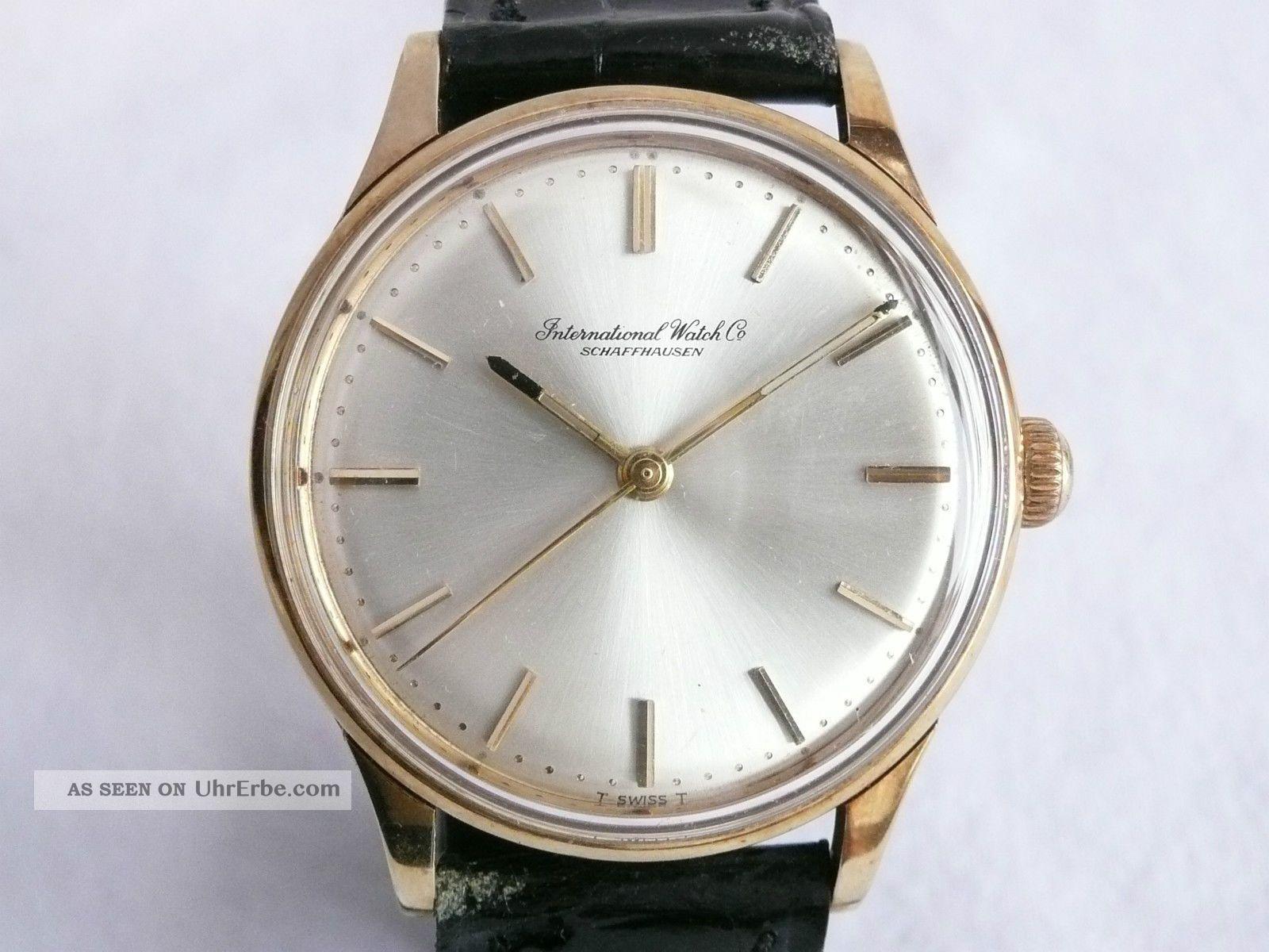 Top Iwc Hau,  Gold,  Cal.  89,  Um 1960 Armbanduhren Bild