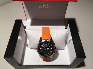 Tissot T - Touch Ii T0474204720701 Titanium / Orange 2 J.  Ungetragen Ovp Bild