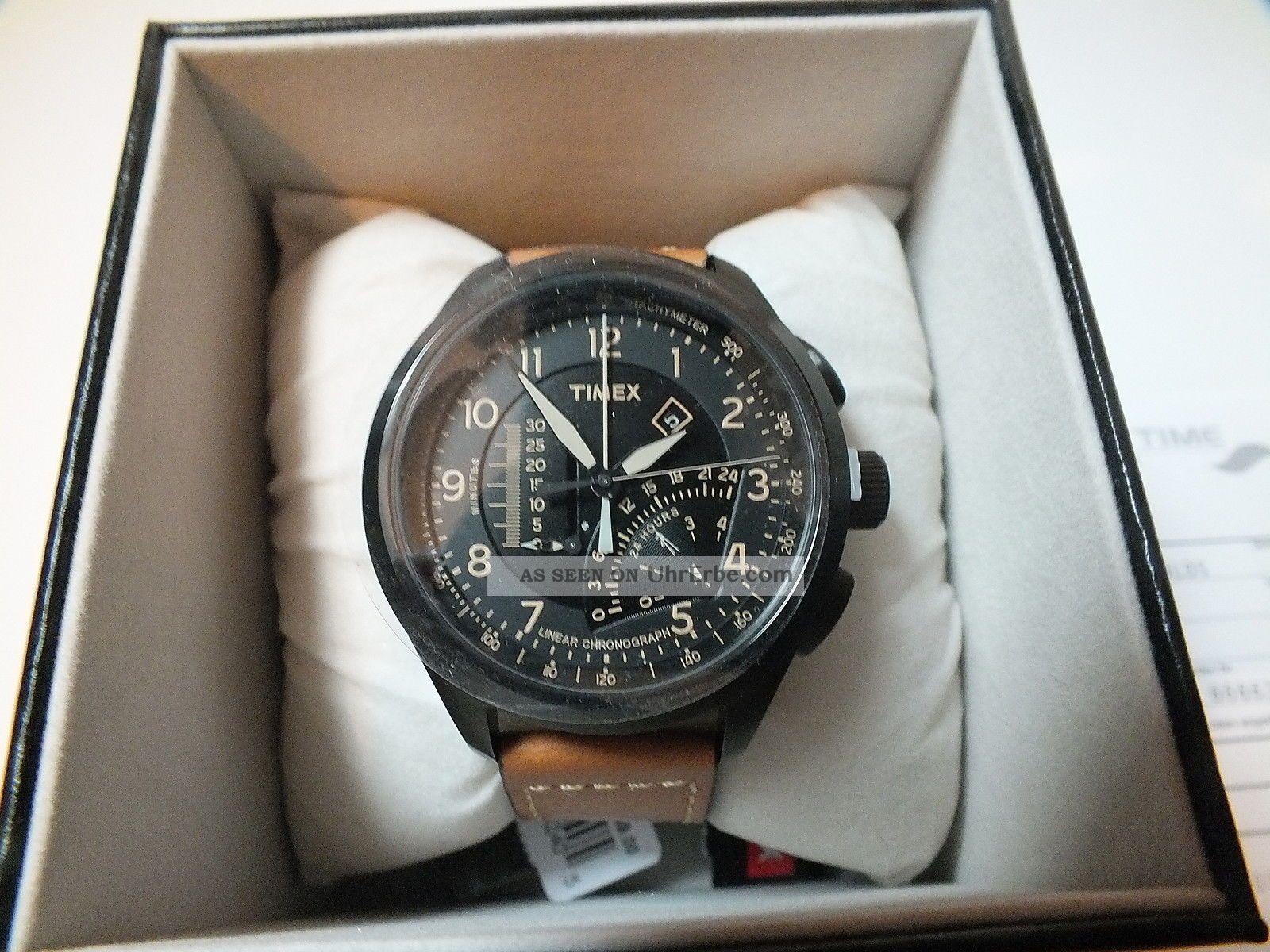 Timex Intelligent Quartz Linear Indicator Chrono T2p277 Nagelneu,  Ovp Armbanduhren Bild