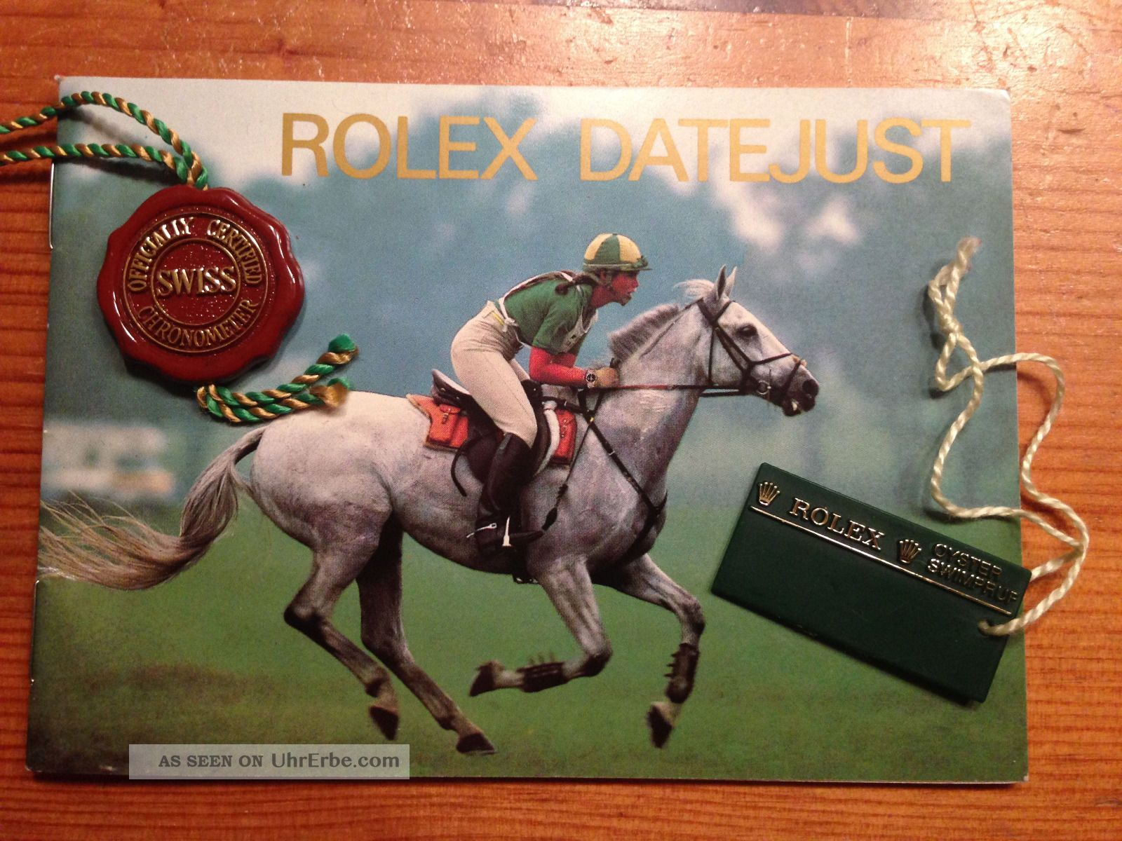 Rolex Datejust Booklet Das Klassische Mit Hangtag Armbanduhren Bild