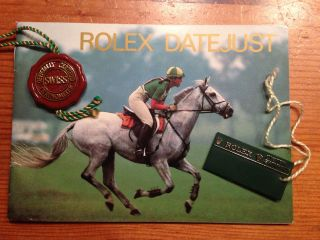 Rolex Datejust Booklet Das Klassische Mit Hangtag Bild
