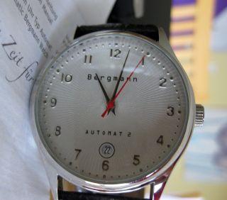 Bergmann Automat 2 Uhr Automatik Ovp Neuwertig Automatic Herren Bild