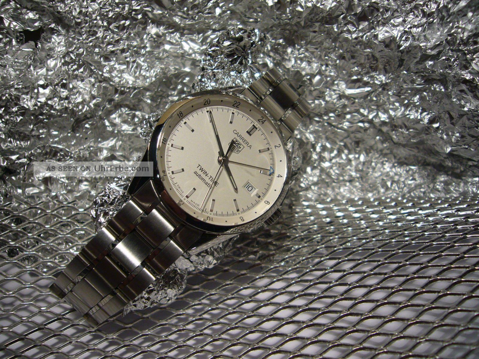Tag Heuer Carrera Twin - Time Calibre 7 Automatik Edelstahl Armbanduhren Bild