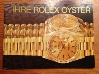 Rolex Oyster Booklet In Deutsch Bild