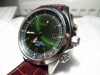 Seiko Alpinist Sarb017 Automatik,  Handaufzug,  Sekundenstopp Green Bild
