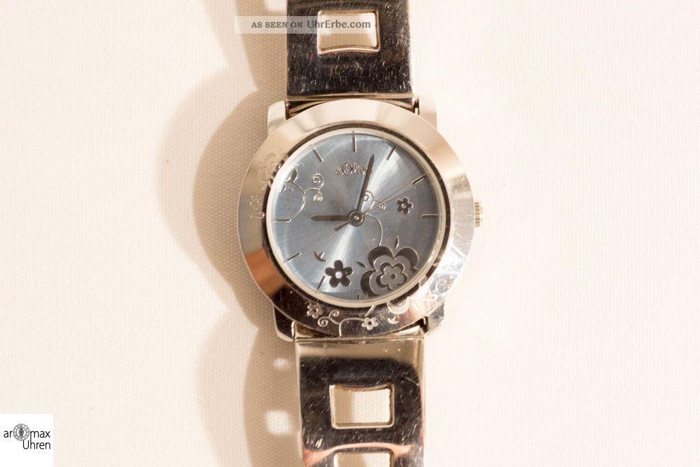 S.  Oliver Damen Schmuckbanduhr Edelstahl Armbanduhren Bild