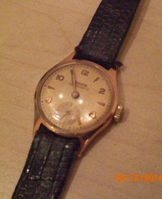 Doxa 14 Karat Gold Rotgold Mechanische Damen Uhr Bild