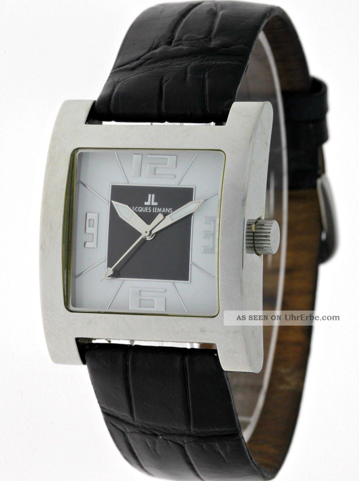 Sportliche Jacques Lemans Venice 1 - 1142 Grand Carre Quartz Damenuhr Edelstahl Armbanduhren Bild