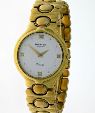Elegante Raymond Weil Geneve Tosca 9141 - 3 Damen Dresswatch 18k.  Goldplated - Box Bild