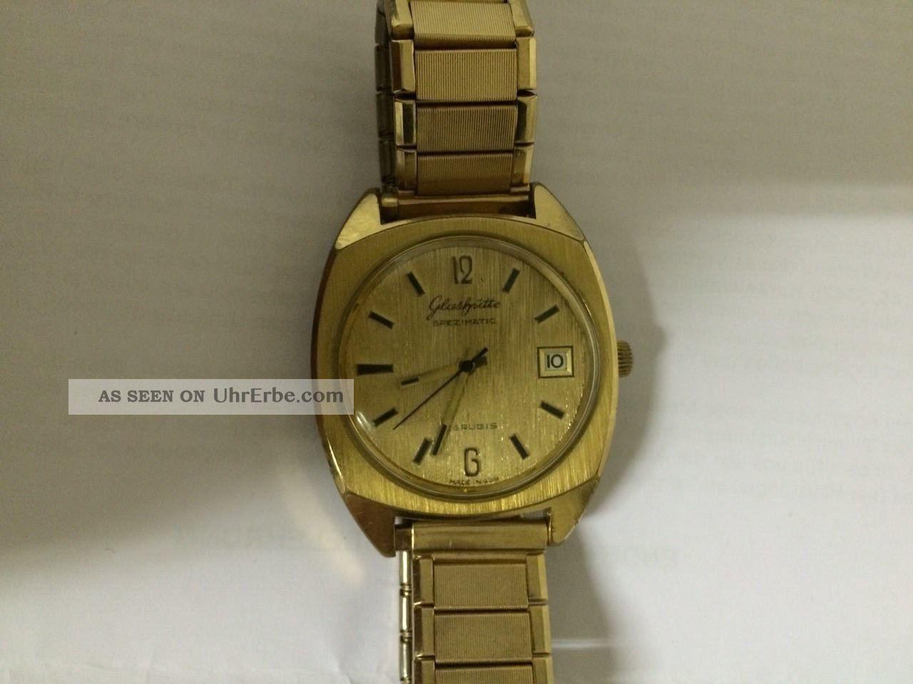 Glasshütte Spezimatic 26rubis Goldplaque 830945 Armbanduhren Bild