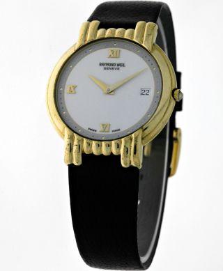 Raymond Weil 9167 Klassisch Elegante Damen Dresswatch 18k.  Gold Electroplated Box Bild