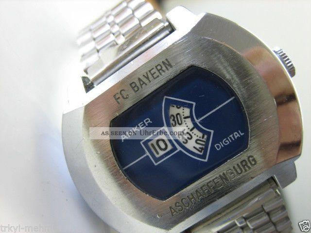 , 70er Jahre.  Digital.  Nos Top Herrenarmbanduhr Armbanduhren Bild