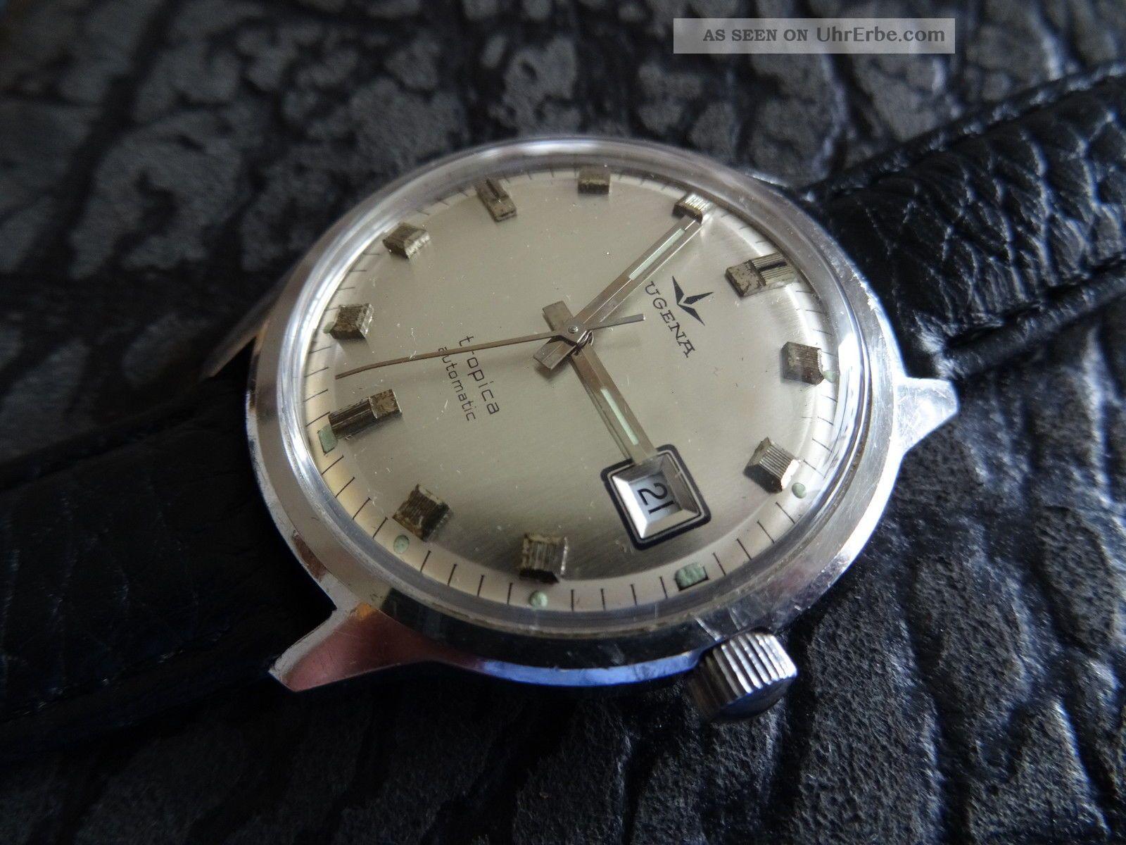 Dugena Tropica Automatic,  Eta 2783,  Vintage,  Edelstahl, Armbanduhren Bild