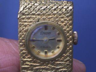Seltene Alte Mechanische Condor Swiss Armbanduhr 17rubis Gut Erhalten Läuft Gut. Bild