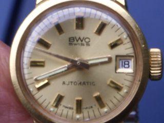 Schöne Alte Bwc Swiss Automatic Armbanduhr Werk 2671 Gut Erhalten Läuft Gut. Bild