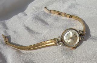 Rare Vintage Silvana Gold Aufziehuhr 21 Rubis Manuell Art Deco Design Diamant Bild