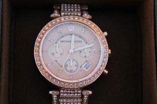 Michael Kors Frauen Chronograph Parker Rose Gold Mk5663 Armbanduhr Bild