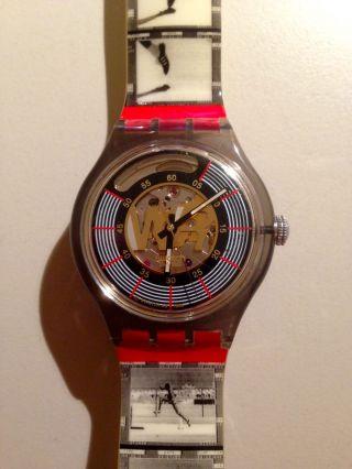 Top Armbanduhr Swatch Automatic Edwin Moses Olympia Saz106 Unisex Top Bild