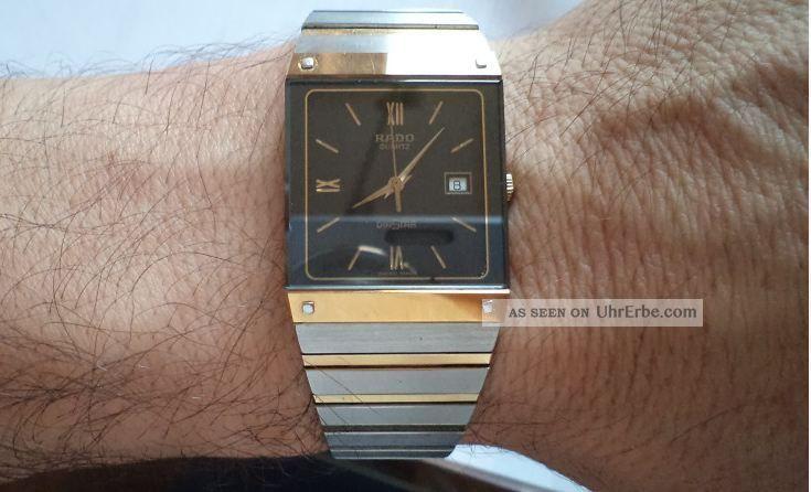 Rado Herren Uhr Modell Diastar Quartz 129.  0195.  3 Watch Armbanduhren Bild