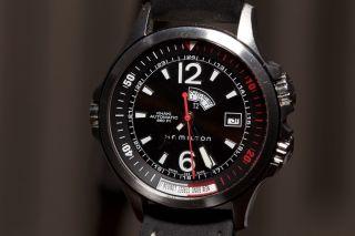 Hamilton Khaki Navy Gmt H77750 Armbanduhr Herren 600ft Automatic Bild