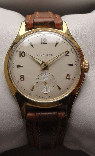 Vintage Armbanduhr Junghans – Handaufzug – Cal.  Junghans 93 Bild