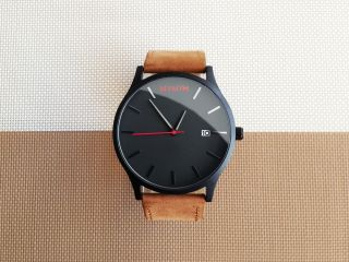 Mvmt Watch Black / Tan Leather Leather Bild
