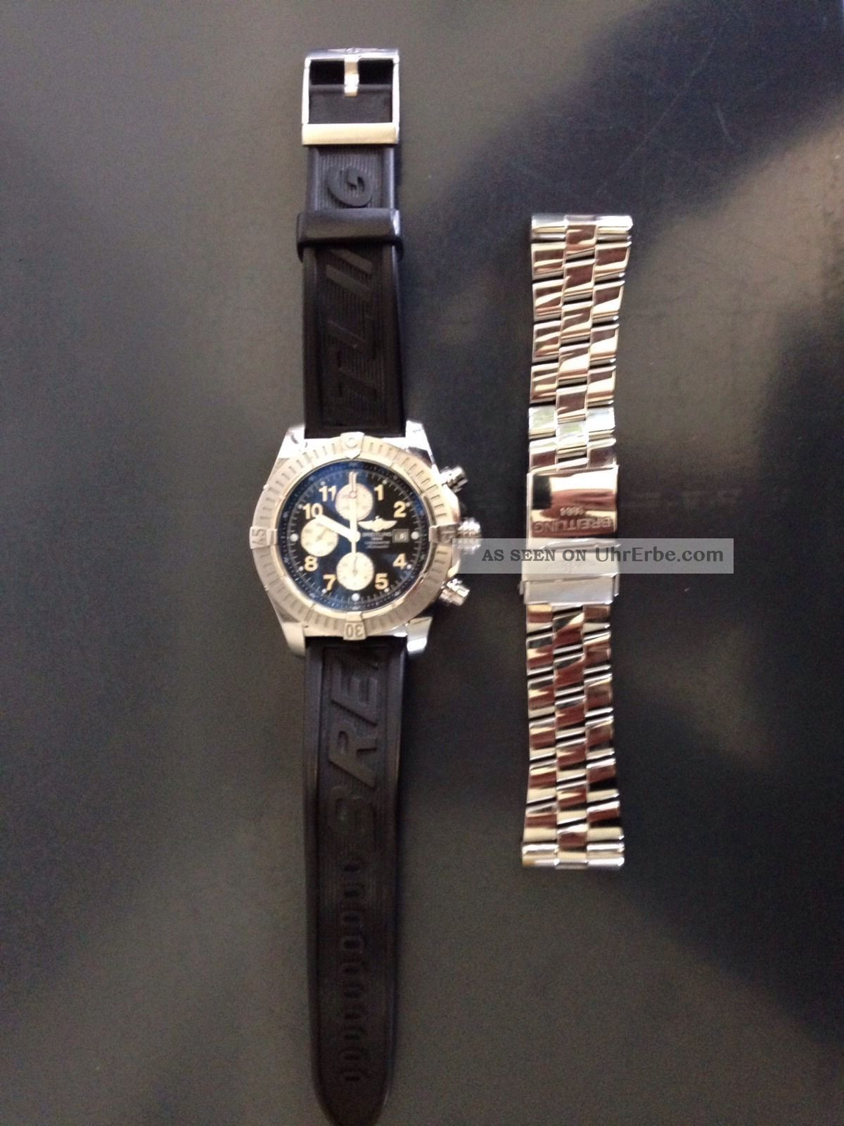 Breitling Avenger Mit 2 Armbänder Armbanduhren Bild