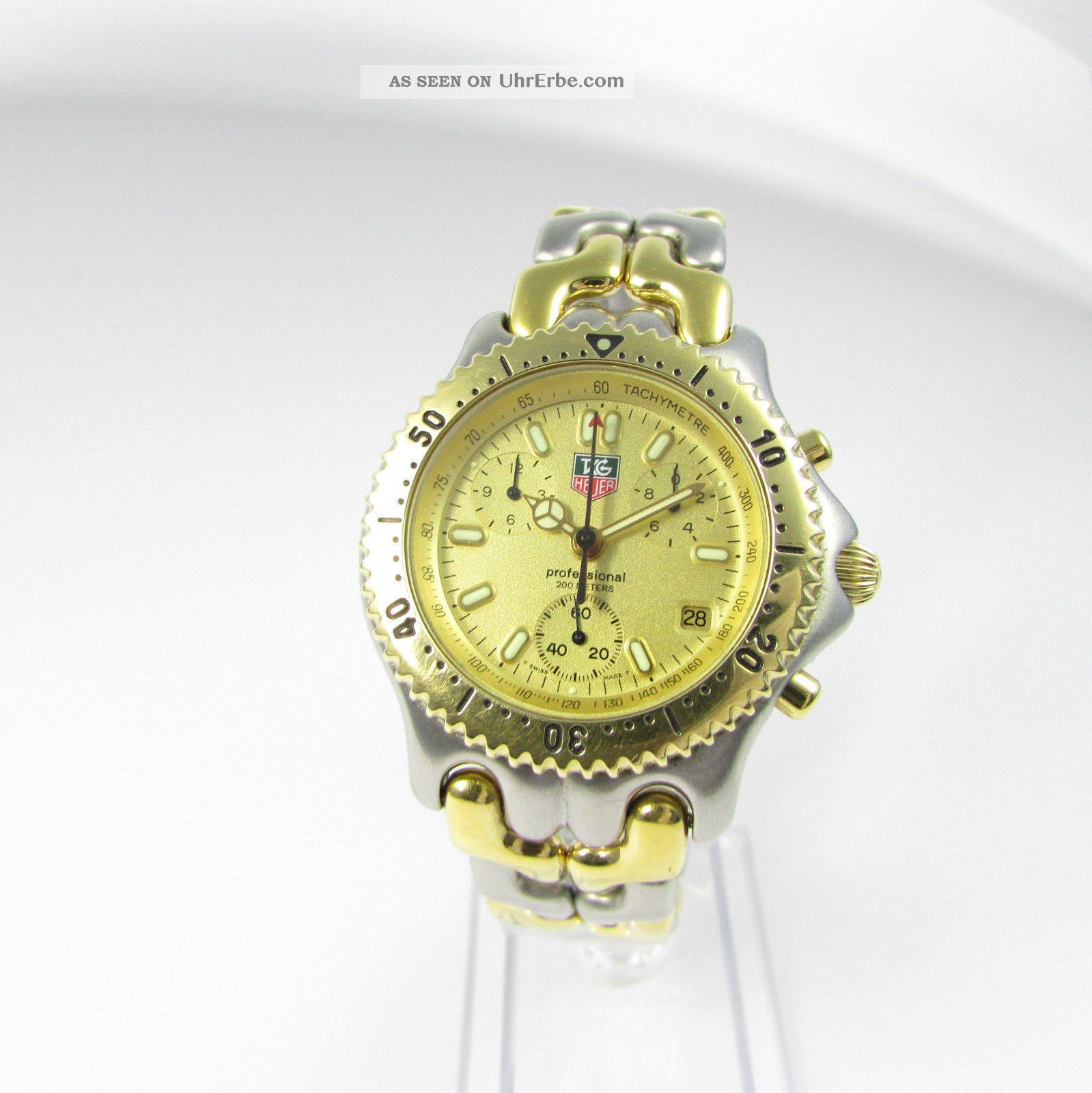 Tag Heuer Sel Professional Racing Chronograph - Bicolor Im Topzustand Armbanduhren Bild
