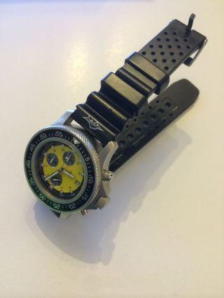 Skytimer Uhr,  Gelber Taucher Chronograph Herren Uhr Wie Bild