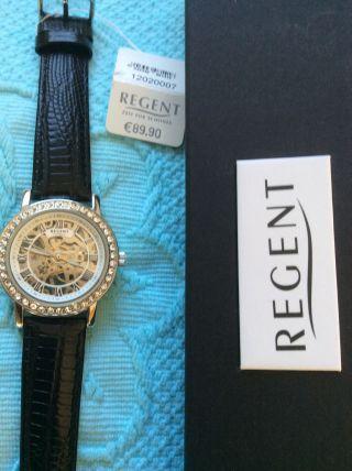 Damenuhr Mechanikuhr Regent Elegante Armbanduhr Valentinstag? Bild