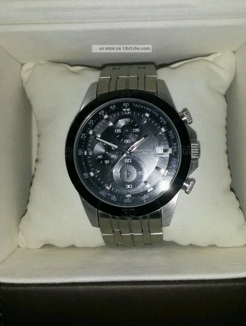 S Oliver S.  Oliver Selection Chronograph Herren Silber Np 229,  - Topzustand Armbanduhren Bild